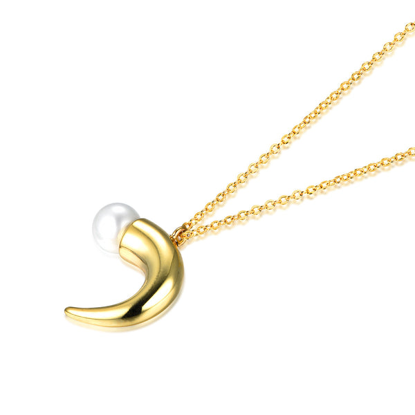 Pearl Horn Necklace