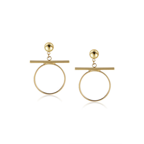 Balancing Act Circle Earrings