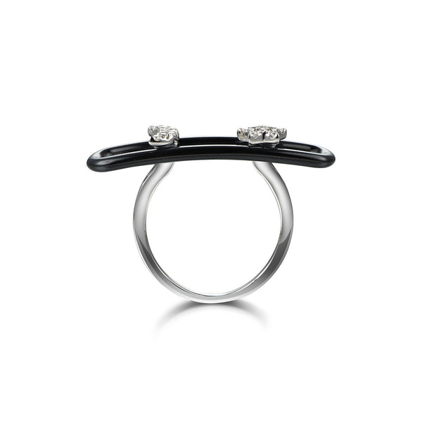 Black Starry Night Ring