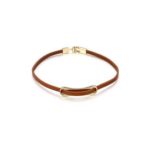 Dual Layered Leather Bracelet