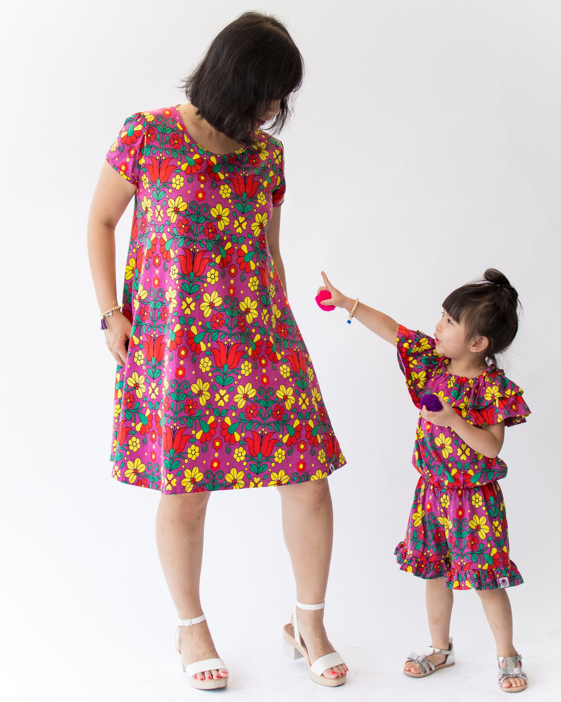 Adult Rosa Dress - Roses & Rhinos