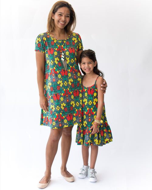 Adult Sophia Dress - Roses & Rhinos