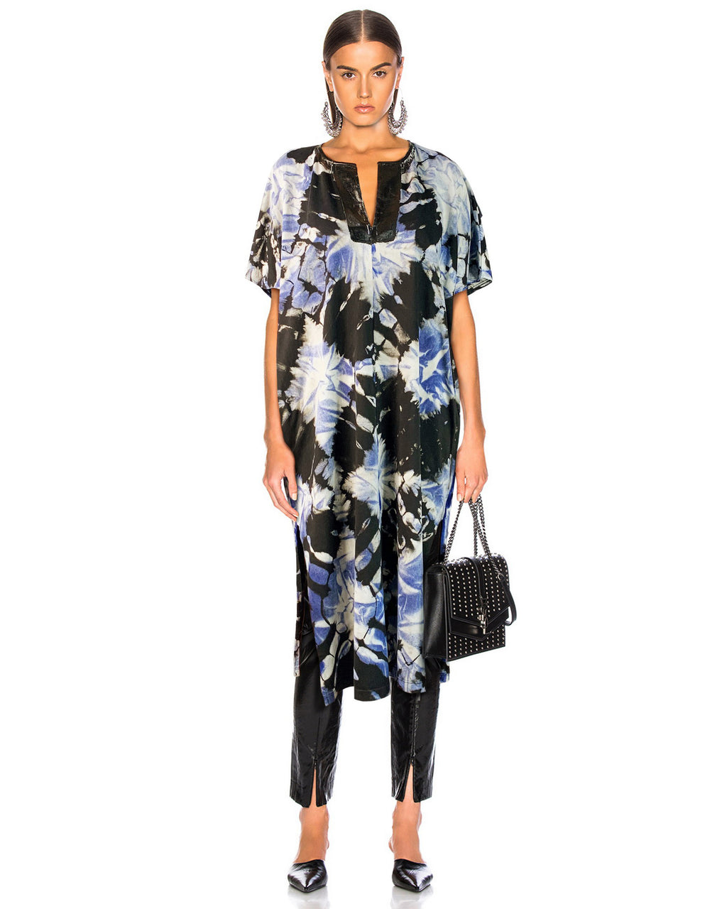 Women Black Neck Kaftan - Roses & Rhinos