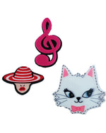 Cat Music x 2 Pin - Roses & Rhinos