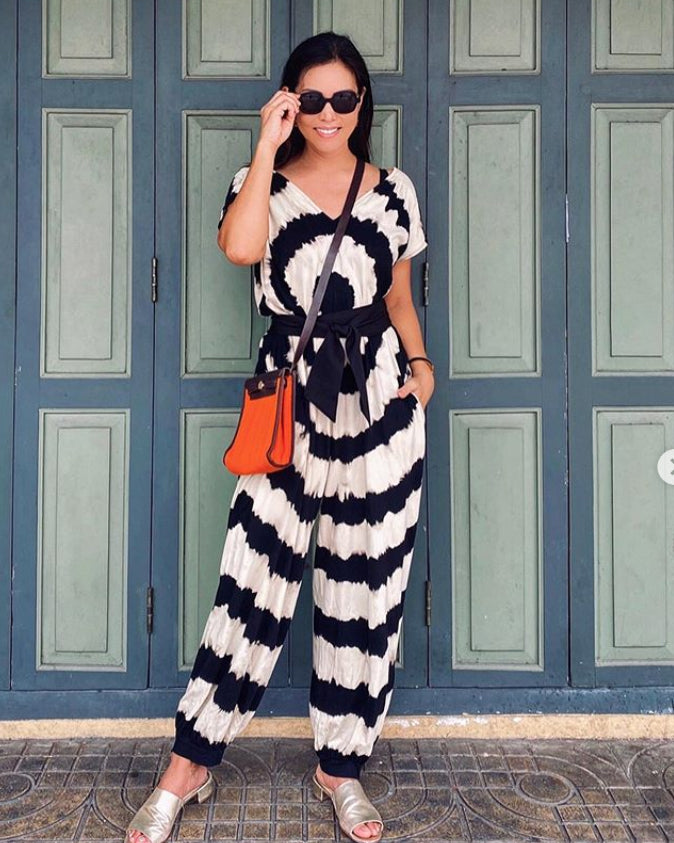 Women All Over Circle Jumpsuit - Roses & Rhinos