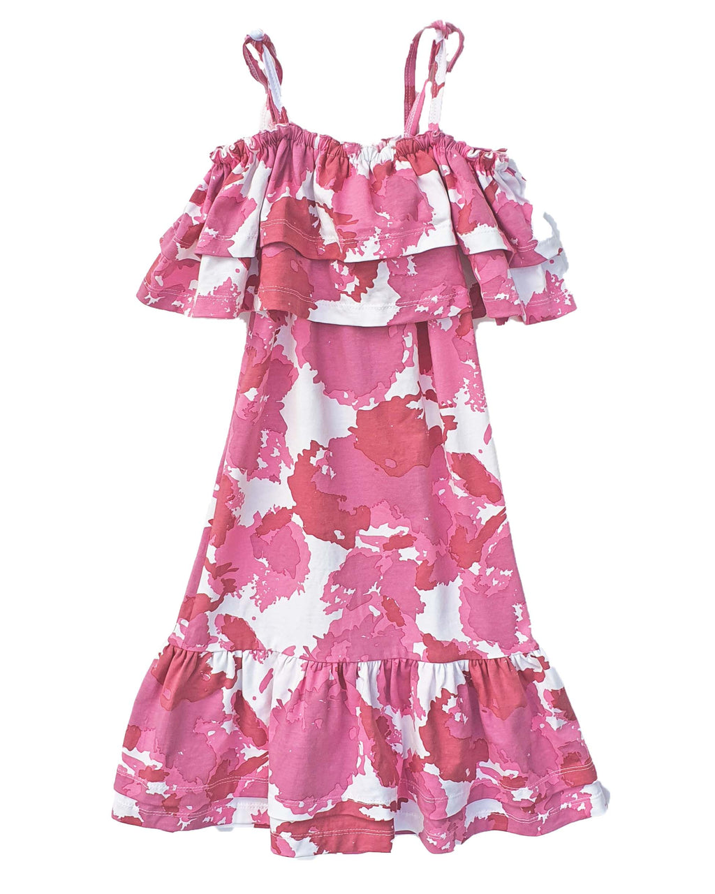 Isabella Clouds Pink Off Shoulder Dress - Roses & Rhinos