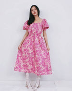 Women Dora Dolly Pink Flora Dress - Roses & Rhinos