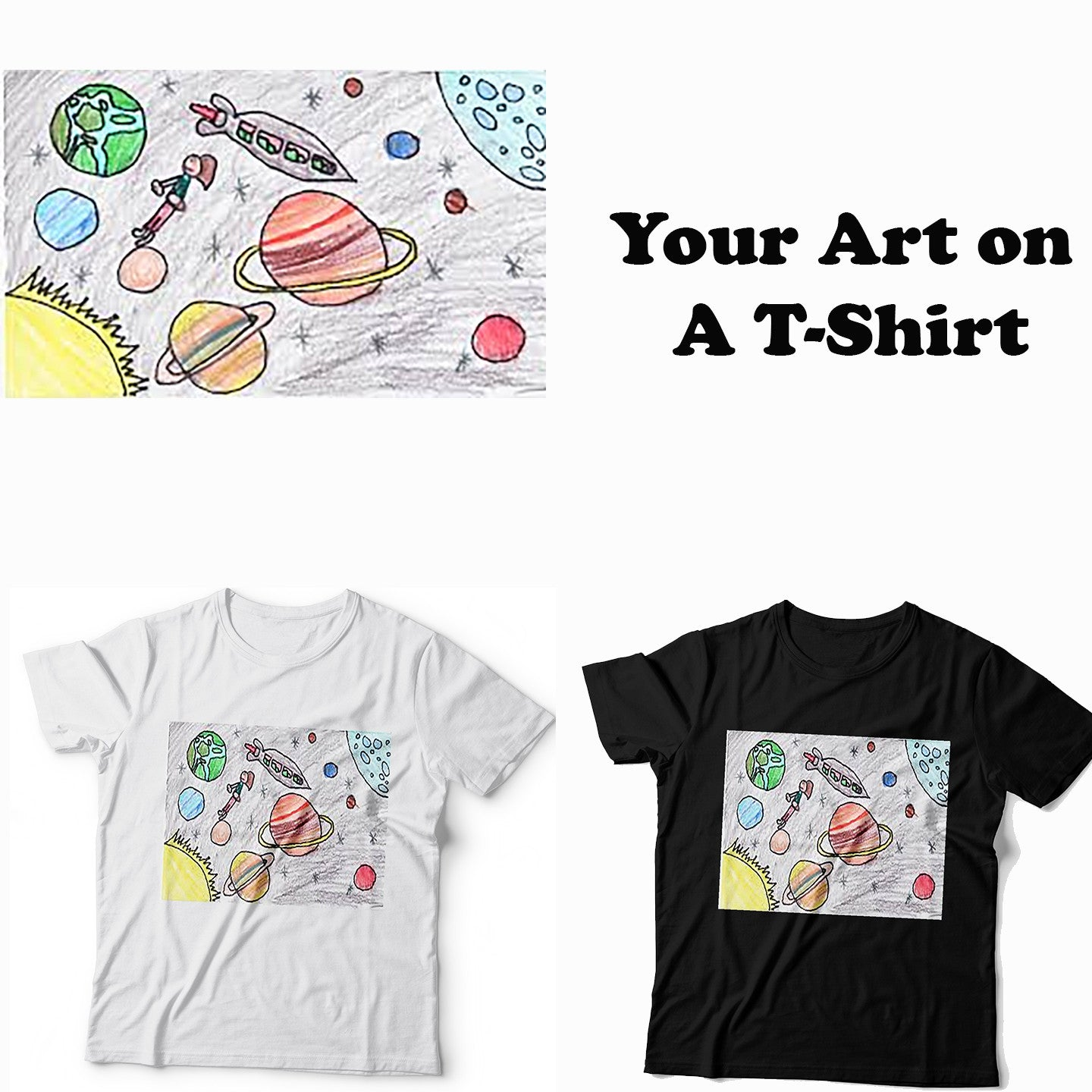 Your Art on A T-Shirt - Roses & Rhinos