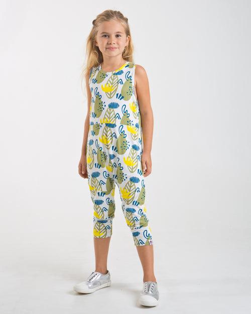 Forest Print Jumpsuit - Roses & Rhinos