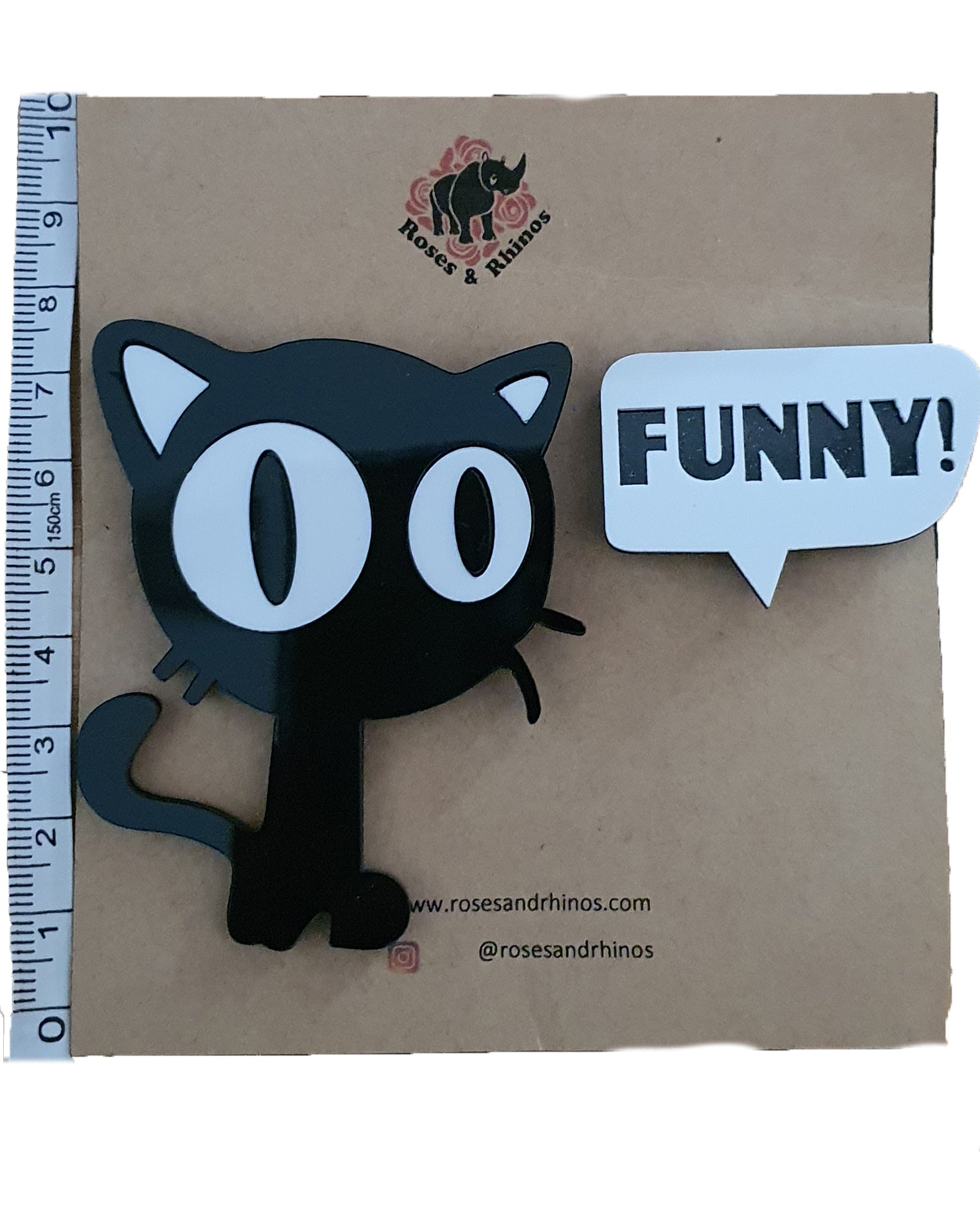 Funny and Cat x 2 Pin