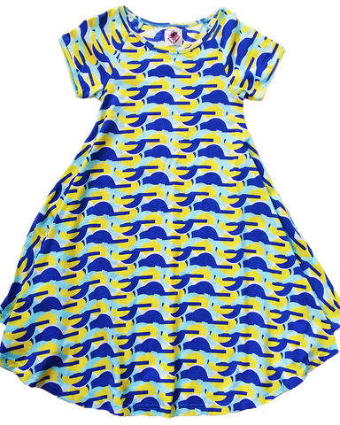 Geo Ruffle Dress