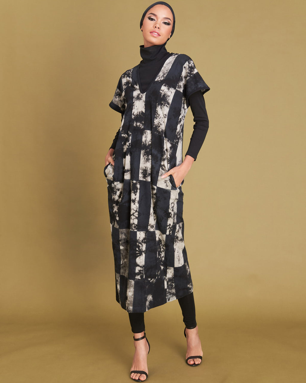 Women Gypsy Block Straight Midi Dress - Roses & Rhinos