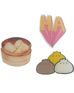 Ha Dumplings x 3 Pin - Roses & Rhinos