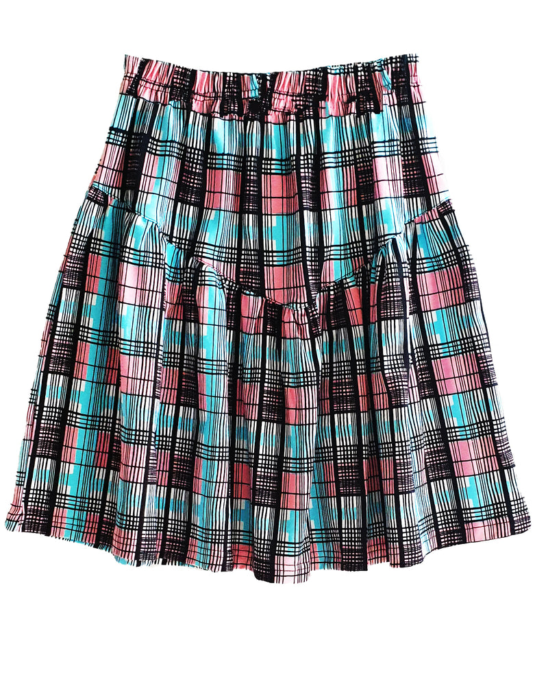 Honey Check Frill Skirt - Roses & Rhinos