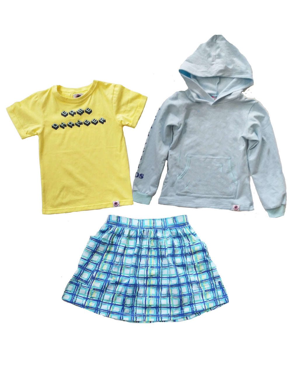 Hoody, T-Shirt and Skirt Set - Roses & Rhinos