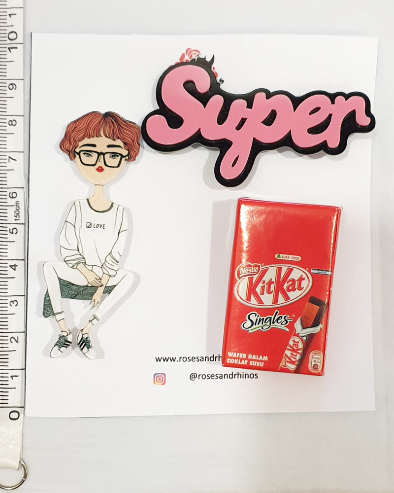 Kit Kat Super x 3 Pin - Roses & Rhinos