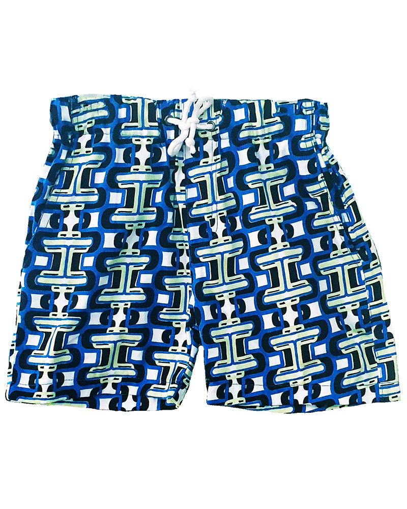 LL Cool Links Blue Shorts - Roses & Rhinos