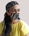 ADULT Reversable Face Mask and Headscarf - Roses & Rhinos