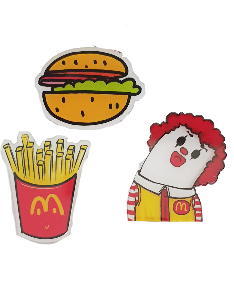 Mcdonalds Clown x 3 Pin - Roses & Rhinos