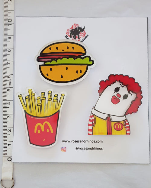 Mcdonalds Clown x 3 Pin