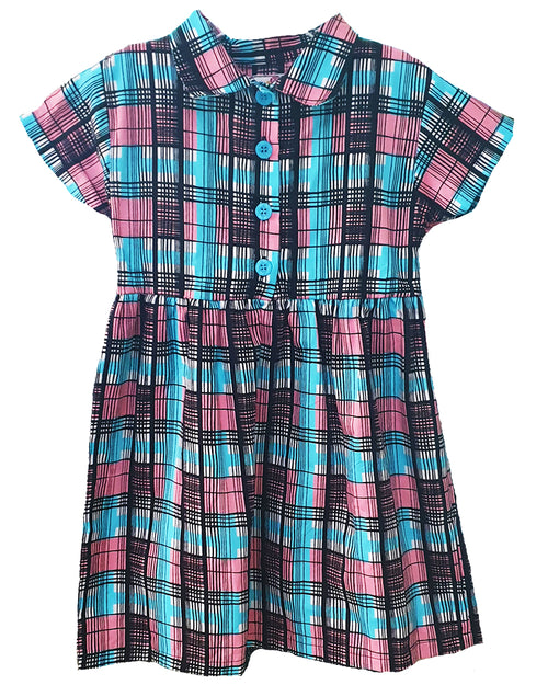 Nicci Check Collar Dress - Roses & Rhinos