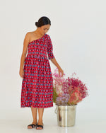 Women Dash One Shoulder Dress - Roses & Rhinos
