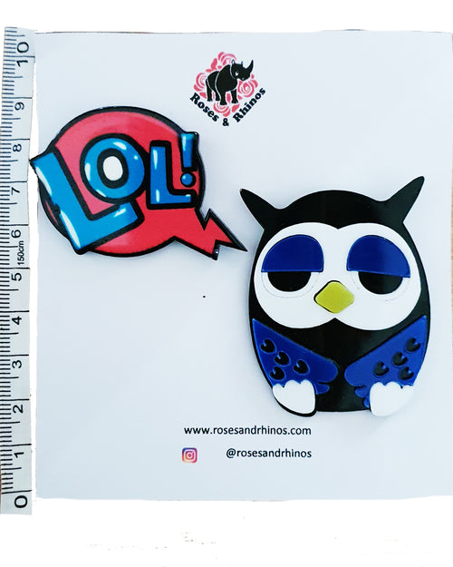 Owl LOL x 2 Pin