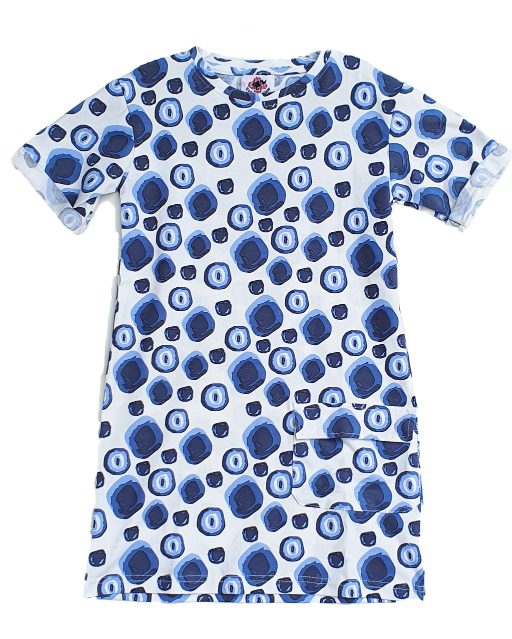 Pebble Drop T-Shirt Dress - Roses & Rhinos