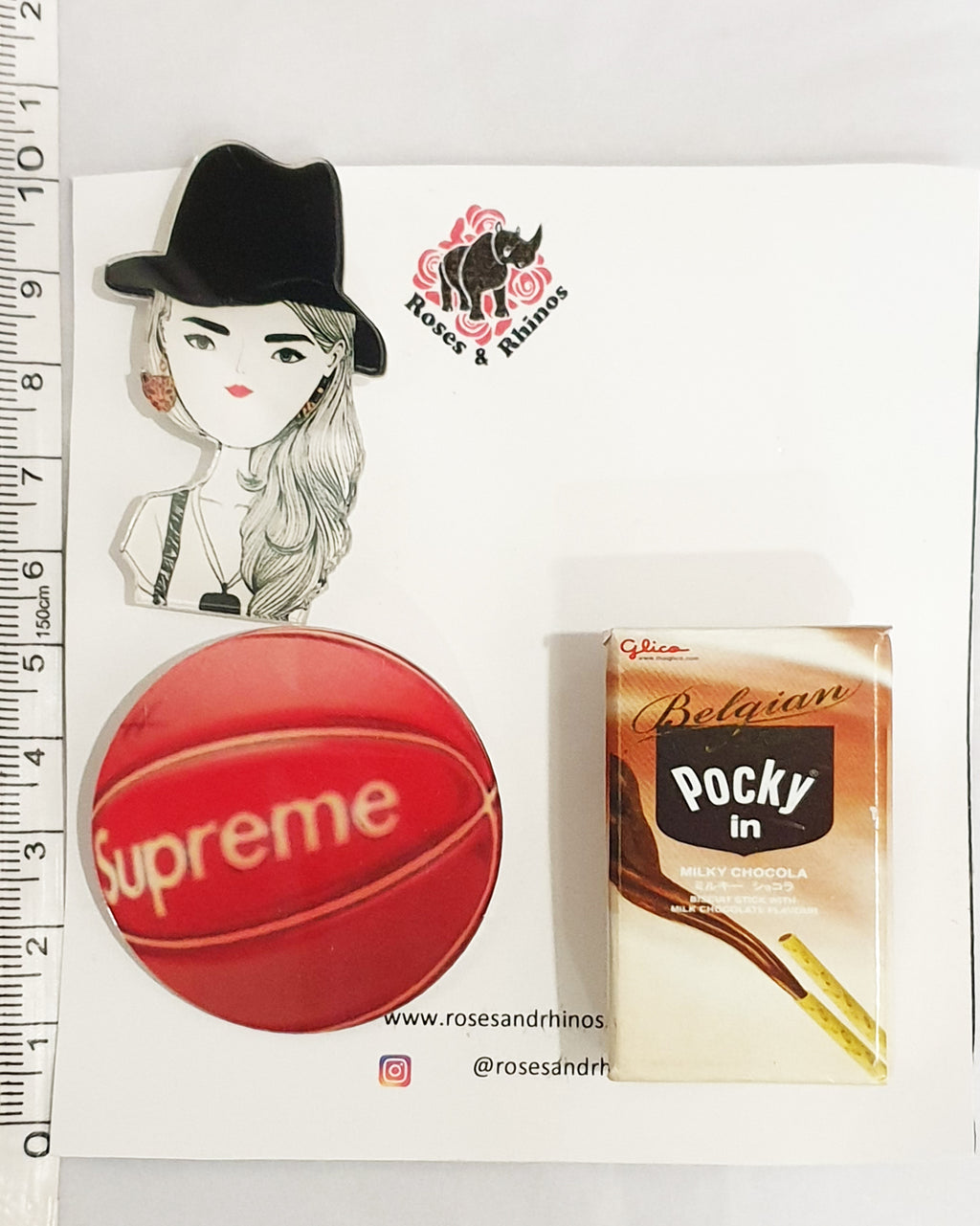Pocky Supreme Girl x 3 Pin - Roses & Rhinos