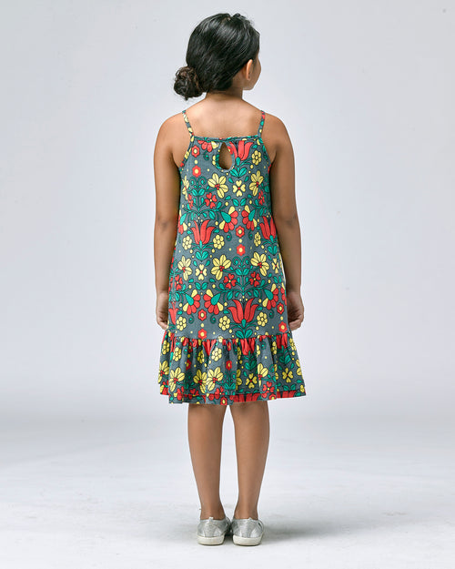 Sophia Frilled Dress - Roses & Rhinos