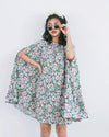 Women Sara Green Flora Cape Dress - Roses & Rhinos