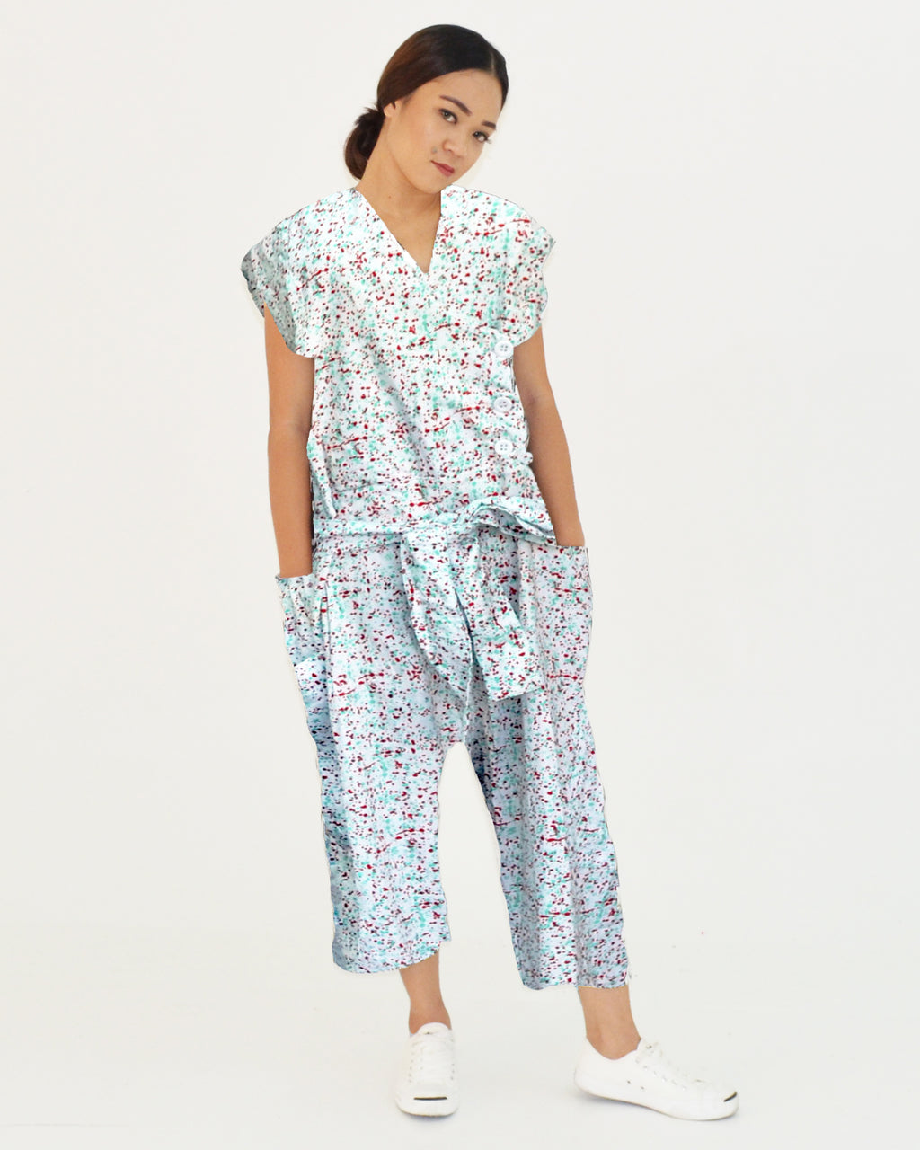 Women Speckle Jumpsuit - Roses & Rhinos