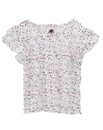 Speckle Frill Top - Roses & Rhinos