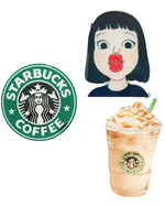 Starbucks Kiss x 3 Pin - Roses & Rhinos