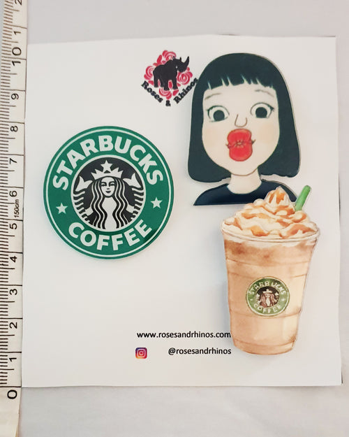 Starbucks Kiss x 3 Pin