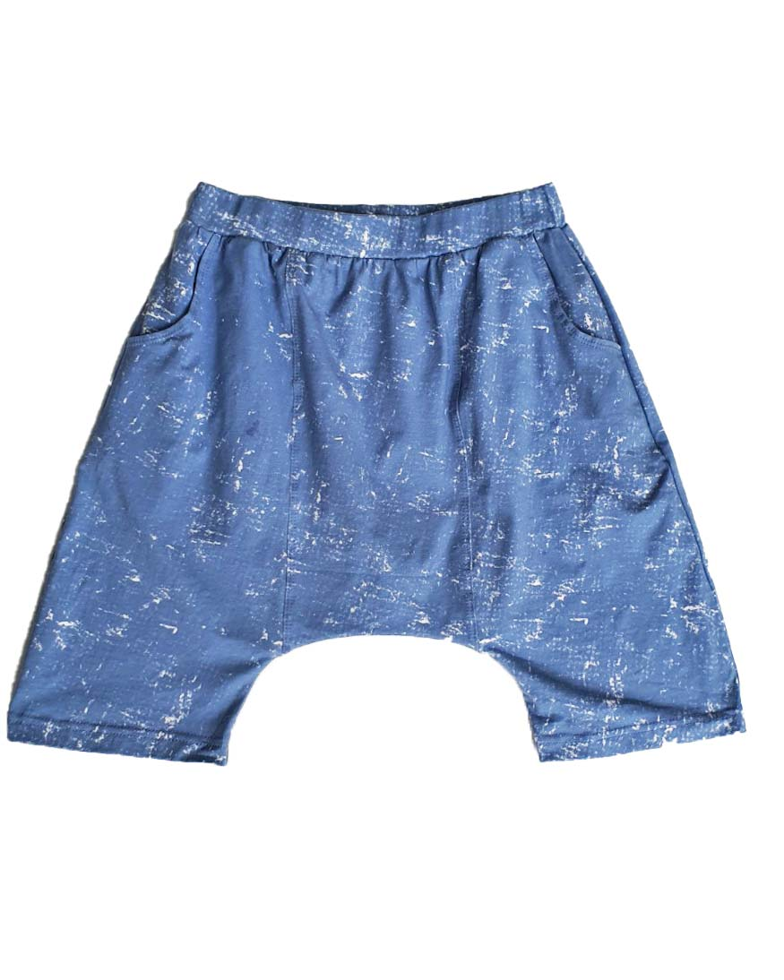 Stones Blue Drop Crotch Shorts - Roses & Rhinos