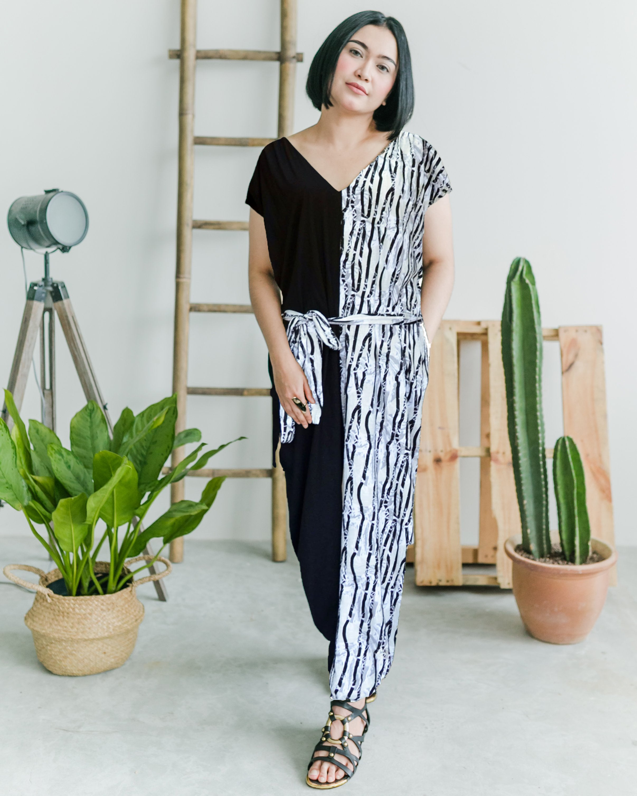 Women Woodland Half Jumpsuit