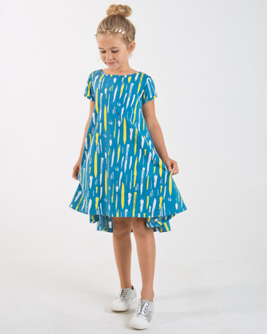 Check Peep Dress