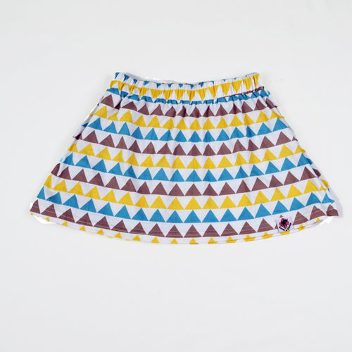 Triangle Print Mini Skirt