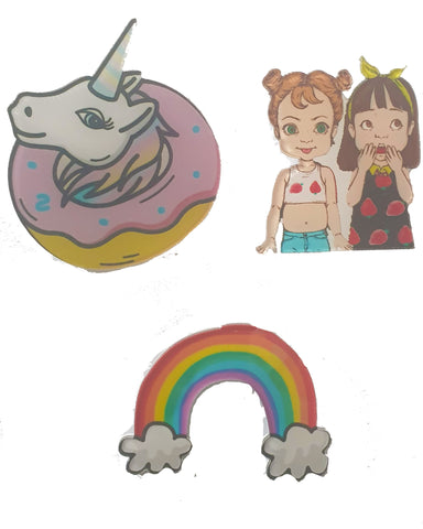 Cat Donut x 3 Pin