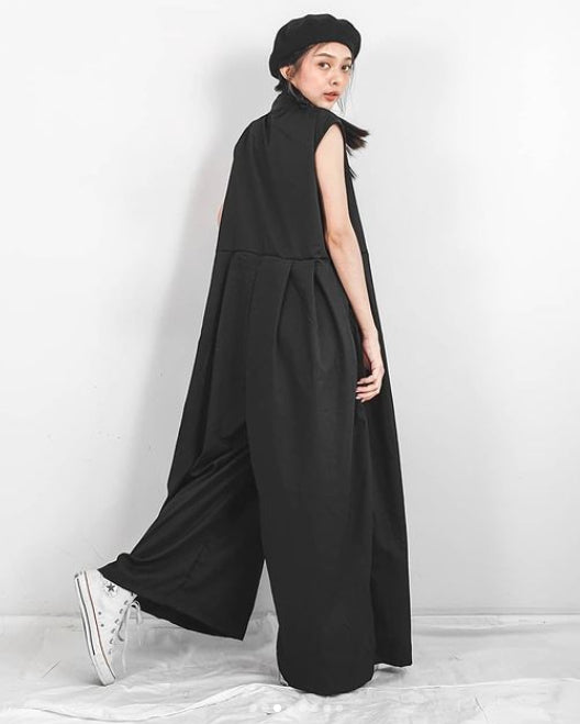 Women Wide Leg Black Jumpsuit