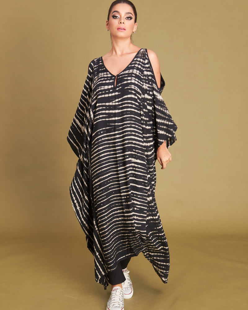 Women Shoulder Zig Kaftan - Roses & Rhinos