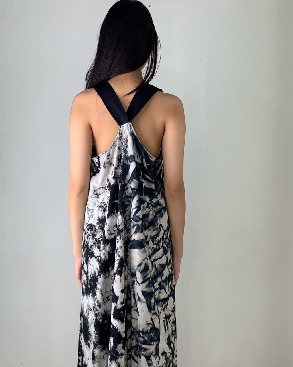 Women Cross Back Tye Dye Dress - Roses & Rhinos