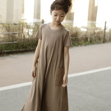 SSOM Cut Pocket Long Swing Dress