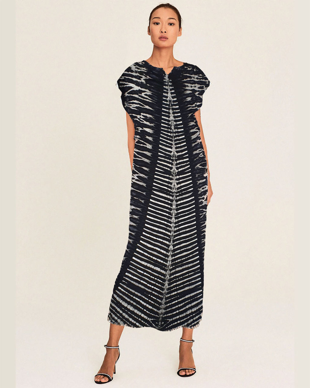 Women Flutter Stripe Midi Dress - Roses & Rhinos