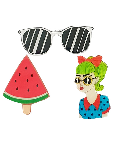 Melon Girl x 3 Pin