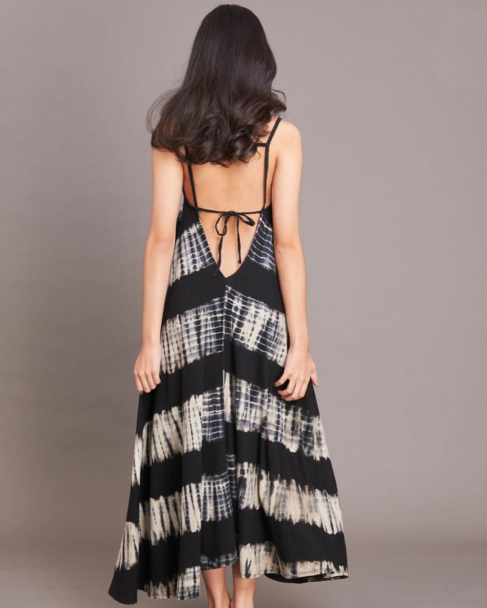 Women Ngara Feather Strappy Midi Dress - Roses & Rhinos