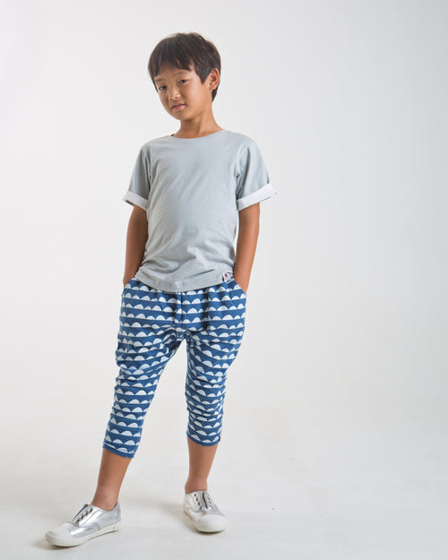 Scallop Print Drop Trouser