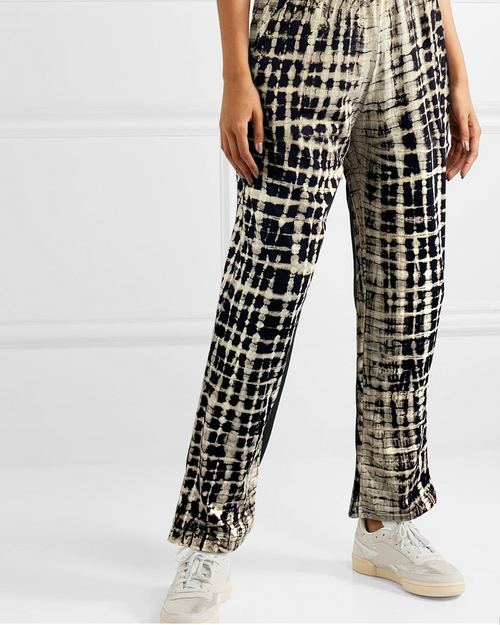 Women's Small Check Classic Pants - Roses & Rhinos