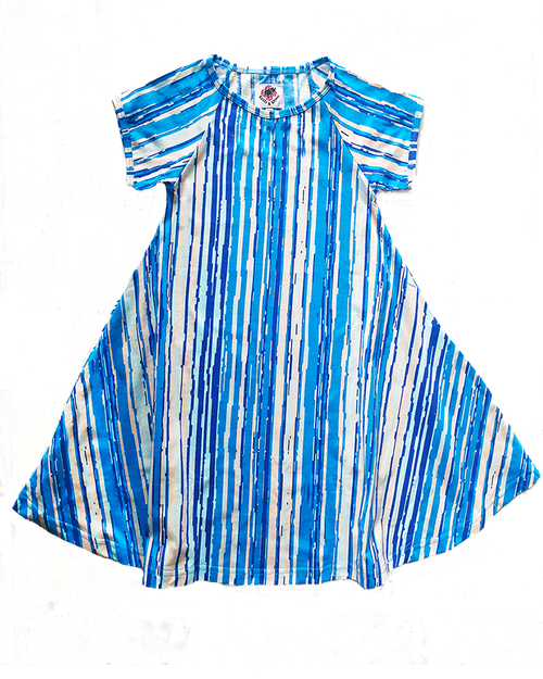Stripe Swing Dress - Roses & Rhinos